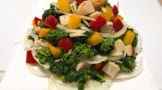 春の新商品! 「菜の花とグリルチキンの生姜香るサラダ」